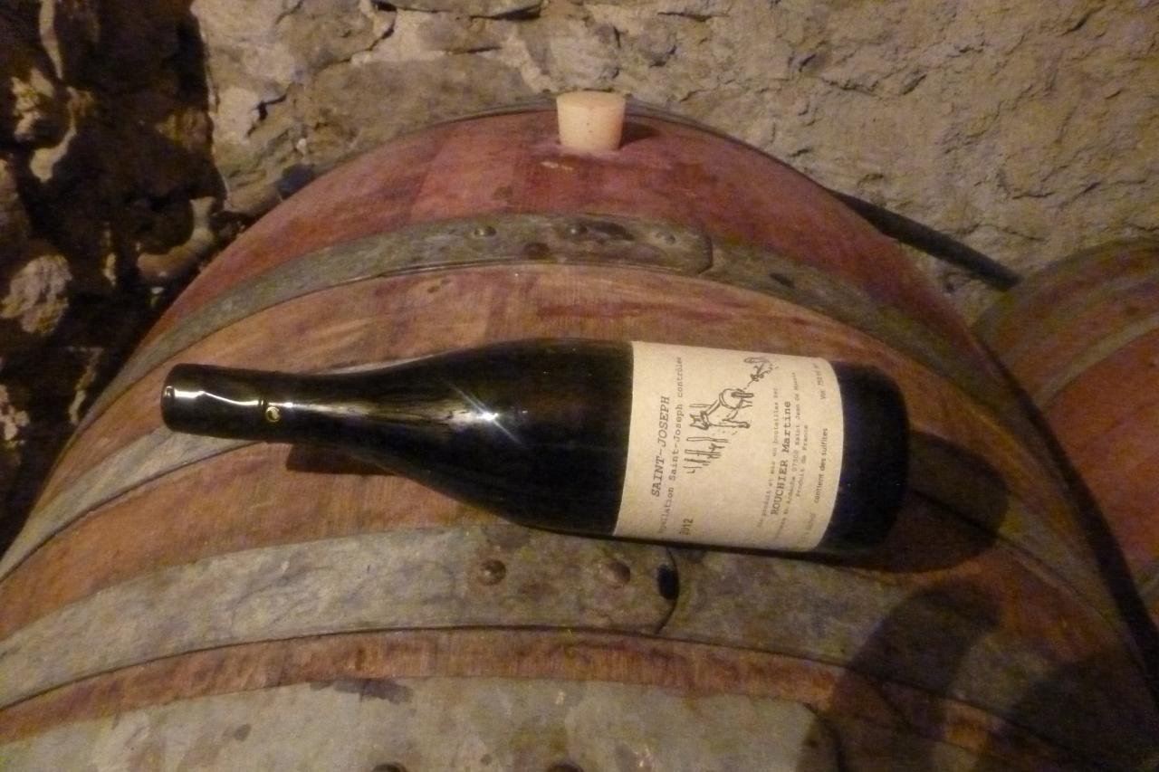 bouteille dans la cave